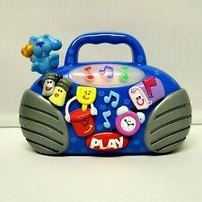 BLUES CLUES Light-Up Musical Mini Boom Box Radio Plays 6 Songs Mattel 2000