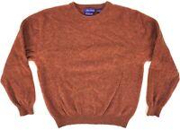 ALAN FLUSSER 100% Pure Cashmere Long Sleeve Pullover Crewneck Sweater Men's L