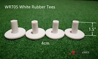 "A99 Golf White Rubber Tee 4cm/1.5""  4 Pcs - Insert Real Tee Practice Training"