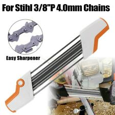 "2 IN 1 Metal Easy Chainsaw File Chain Sharpener  Replace For Stihl 3/8""P 4.0mm"