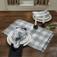 New listing Placemat Set of 2 - Wicklow in Dove by Park Designs - Gray Buffalo Check