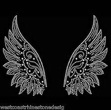 Wings Graceful Rhinestone Iron on Transfer           1QRR