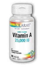 Dry Form Vitamin A 25,000 IU Solaray 60 VegCaps