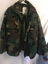 Men's Camouflaged Army Button Out Lining Military Coat  Lots Of Pockets Large