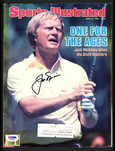 Jack Nicklaus Authentic Autographed Signed Magazine Page Cover PSA/DNA F81016