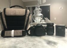 Lightly Used Black Canon EOS Rebel T6 DSLR Camera Bundle
