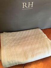 New Restoration Hardware Diamond Matelasse Pacific Blue Standard Pillow Sham