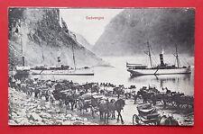 AK NORWEGEN 1906 Gudvangen mit Schiffen und Pferdekutschen    ( 25454