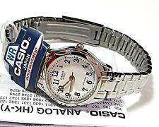 Genuine Casio LTP1275D-7B Silver Stainless Steel Analog Women Quartz Watch NEW