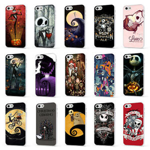 NIGHTMARE BEFORE CHRISTMAS SKELLINGTON WHITE PHONE CASE COVER for iPHONE 6 7 8 X