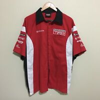 TRD Toyota Racing Development Button Front Pit Shirt Mens XL