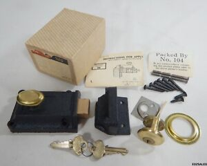 Corbin Rim Dead Bolt Door Lock Brass Cast Iron Vintage Door Hardware