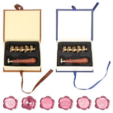 Retro Wax Sealing Fire Painting Stamp Set for Stamping Envelopes Gift Cards
