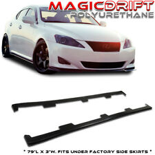 For 06 07 08 Lexus IS250 IS350 IS-F UL Underline JDM Flat Side Skirts Extensions