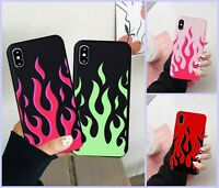 Fashion Flame Pattern Phone Case For iPhone X XS MAX 11 Pro 7 8 6Plus Red Flames