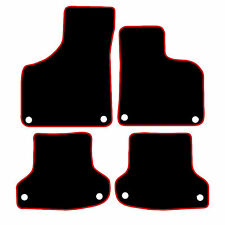 Audi A3 Tailored Car Mats 2003 - 2012 Black With Red Trim ( Clips In All Mats )