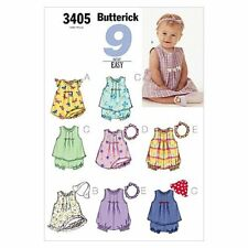 Butterick Sewing Pattern 3405 Baby Sz L-xl Easy Dress Top Romper Panties Hat