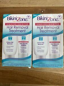 2 X Bikini Zone Hair Removal Treatment Remover + Hair Growth Inhibitor