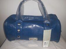 NWT KENNETH COLE REACTION blue satchel purse handbag studded MSRP $79 PVC