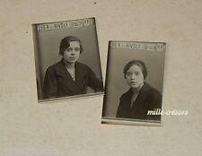 2 Anciennes PHOTOGRAPHIES d'identité 26 R de RIVOLI  (type PHOTOMATON) Photo 4
