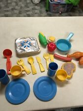 Fisher Price Vintage Tv Dinner Other Food Items & Play Dishes. Rare