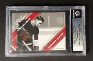 2004-05 ITG ULTIMATE MEMORABILIA NICKNAMES GAME-USED STICK GEORGES VEZINA 8/25