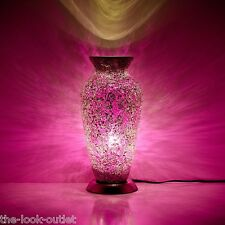 Mosaic Vase Lamp ROSE PINK Bedroom/Table Light