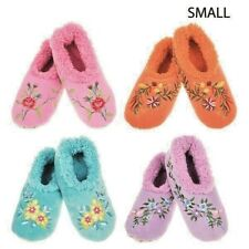 Snoozies Slippers Socks Foot Coverings Sherpa Fleece Ladies comfy Soft Non Slip