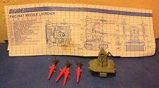 Vintage GI Joe Pac/Rat Missile Launcher with Instruction Sheet For Parts