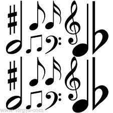 Sticker Musique Clé de sol, notes, diese..., Tailles et Coloris Divers (MUS005)
