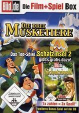 Die drei Musketiere Zeichentrick Film DVD + PC Spiel Schatzinsel 2 CDROM NEU
