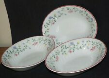 VINTAGE JOHNSON BROTHERS SUMMER CHINTZ OVAL VEGETABLE SERVING DISHES X 3