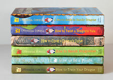 Lot of 6 (#1-6) HOW TO TRAIN YOUR DRAGON Series Matched Set of HARDCOVER Books