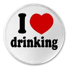 """I Love Drinking - 3"""" Sew / Iron On Patch Drink Alcohol Booze Liquor Humor Gift"""