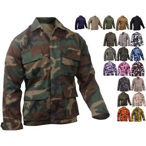 Rothco Military BDU Shirt Tactical Uniform Army Coat Camouflage Fatigue Jacket
