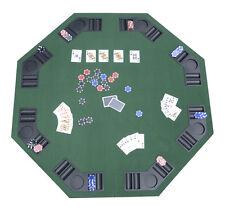 "48"" x 48"" Folding Poker Blackjack Card Table Top 8 Player Foldable w/ Case New"