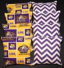 Louisiana University Lsu Tigers & Purple Chevron Cornhole Bean Bags Aca Standard