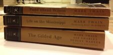 3 Mark Twain Modern Library's: The Gilded Age, Life on the..., Pudd'nhead...