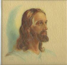 "VTG WARNER PRESS #N5430 Wall Picture God Jesus ""The Christ"" Colicki 1962 w/Box"