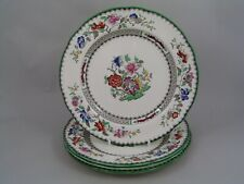 """FOUR COPELAND SPODE CHINESE ROSE 7 1/2"""" SALAD PLATES."""