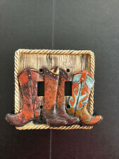 Cowboy Boot double switch cover cowgirl rodeo Hobby Lobby NEW