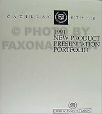 1991 Cadillac Dealer Album Data Book Color and Upholstery all models inc Allante