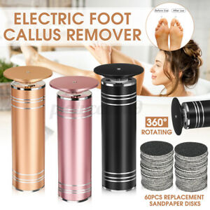 Electric Callus Remover Foot Care Tools with 60pcs Replacement Sandpaper Disks