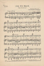 VTG YALE UNIVERSITY song sheet - 'OLD ELI MARCH'- NEW HAVEN music C 1936 CT.
