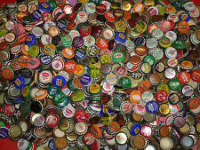 100 VINTAGE SODA POP BOTTLE CAPS 75 DIFFERENT STYLE EA. LOT + 20 BONUS CORK CAPS