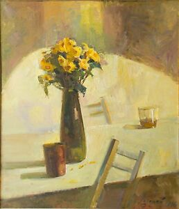 Realistic Oil Still life Original painting on canvas by Lozovoy