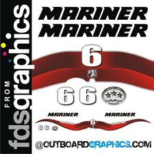 Mariner 6hp 4 stroke outboard decals/sticker kit with EPA decal