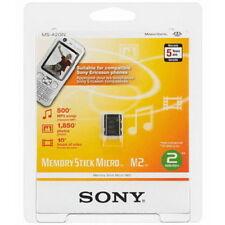 Genuine 2 Go Sony Memory Stick Micro m2 For Phones, PSP & Cameras