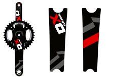 Crank Set Stickers Decals MTB SRAM X0 Mountain Bike Bicycle Adhesive 2 Pcs Red