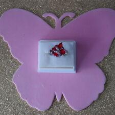 Precioso Roja Sangre Ruby SILVER ANILLO TAMAÑO 3.9 Gr n 1 \ 2-Estados Unidos 7.25 in (approx. 18.41 cm) Caja De Regalo